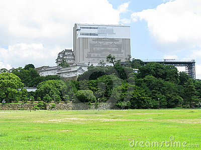 Himeji Castle under reconstruction