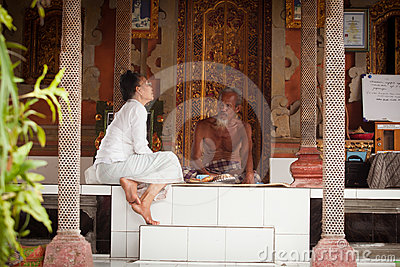 Hindu Brahmin befor the ceremonies Editorial Image