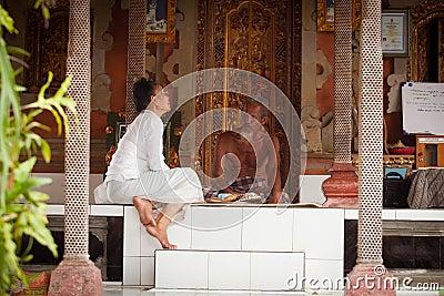Hindu Brahmin befor the ceremonies Editorial Image