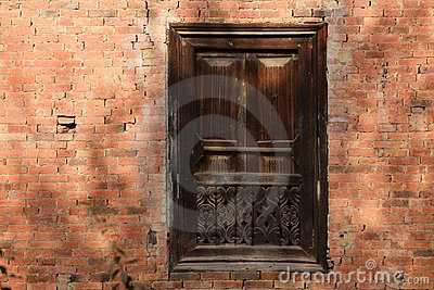 Hindu carved wooden window stock image image 18041091 for Window design in nepal