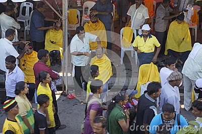 Hindu Devotees preparation Editorial Stock Image