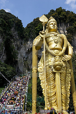 Hindu Devotees at Thaipusam Celebration Editorial Image