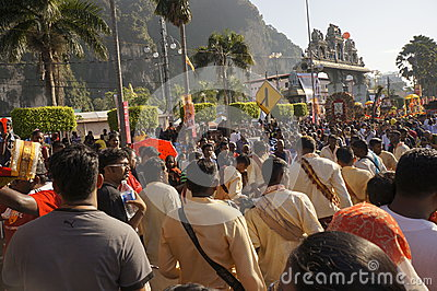 Hindu Devotees during Thaipusam festival Editorial Stock Photo