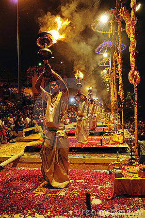 Hindu fire ritual Editorial Image