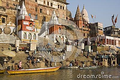 Hindu Ghats - Varanasi in India Editorial Stock Image