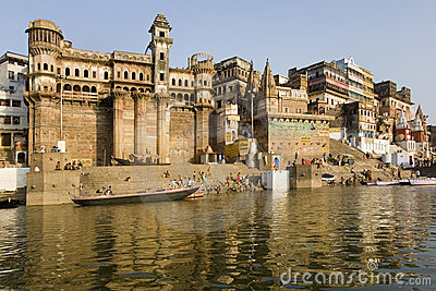 Hindu Ghats - Varanasi in India Editorial Stock Image