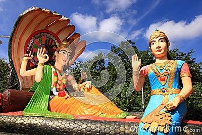 Hindu god Rama with his wife Mata Sita