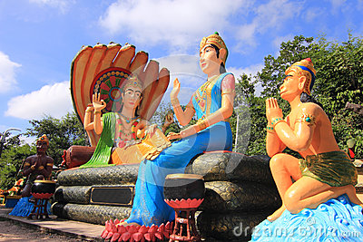 Hindu god Rama with his wife Mata Sita and hanuman