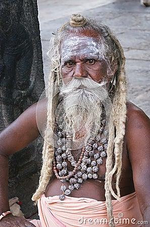 Hindu holy man sadhu Editorial Photography