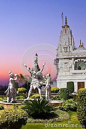 Hindu idols and temple Editorial Photo