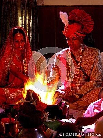 Free Hindu Marriage Couple Royalty Free Stock Photos - 1675858