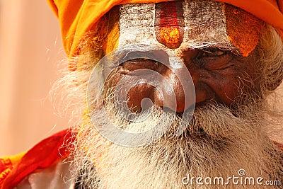 A hindu monk at Varanasi Editorial Stock Image