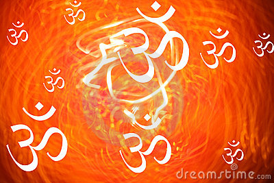 Hindu Om Background