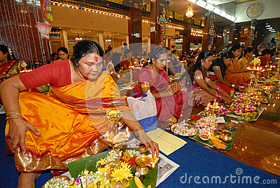 Hindu prayers Editorial Stock Image