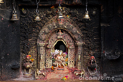 Stock Photos: Hindu sacred altar