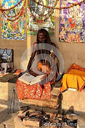 Hindu Sadhu Editorial Stock Photo