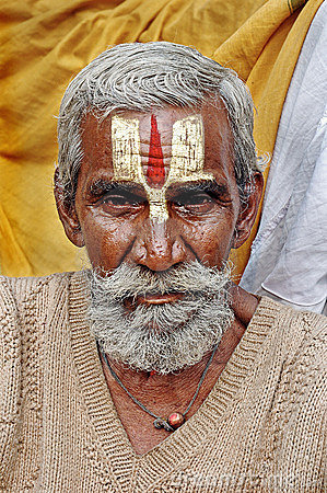 Hindu Sadhu in India Editorial Stock Photo
