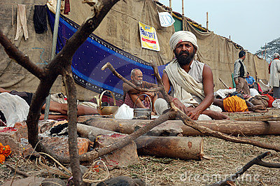 Hindu Sadhu in India Editorial Stock Image