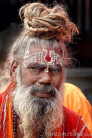 Hindu Sadhu in India Editorial Photo