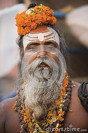 Hindu Sadhu - Varanasi - India Editorial Photography