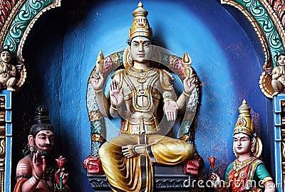 Hindu Statues at Batu Caves Kuala Lumpur Malaysia