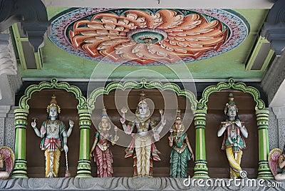 Hindu statues of gods