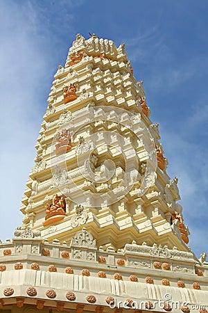 Hindu Temple Gleaming in the Sun