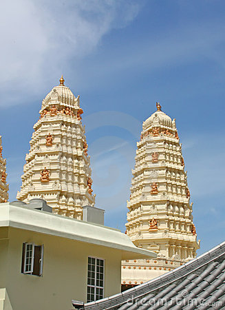 Hindu Temple Gleaming in the Sun