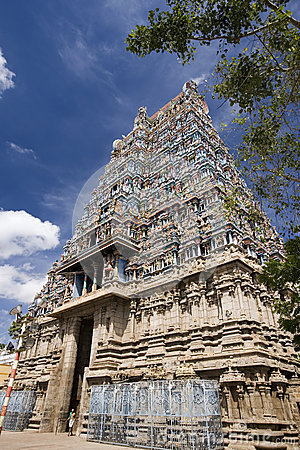 Hindu Temple - Madurai - Tamil Nadu - India Editorial Stock Photo
