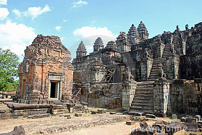 Hindu Temple Phnom Bakheng, Angkor, Cambodia