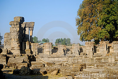 Hindu temple ruins, Avantipur, Kashmir, India