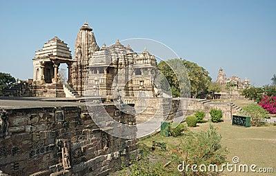 Hindu temples at Khajuraho,famous sacred place