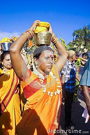 Hindu Women Devotees during Thaipusam festival Editorial Image