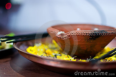 Hindu worship plate