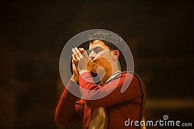 Hinduisk ceremoni Redaktionell Arkivfoto