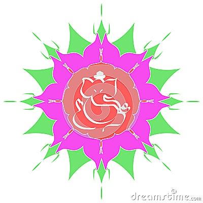 Hinduisk sri för gudganesha