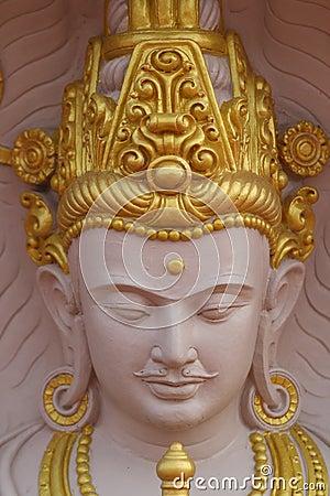 Hinduisk staty för gud