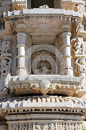 Hinduism ranakpur temple fragment