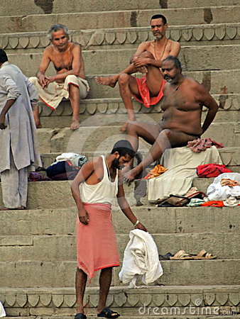 Hindus perform ritual puja Editorial Stock Photo