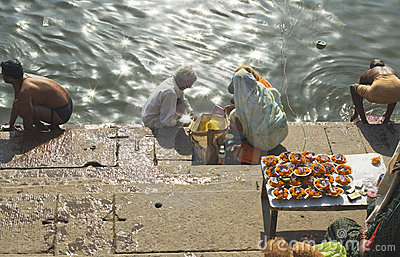 Hindus at Varanasi Editorial Image