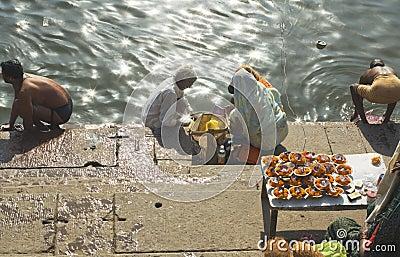 Hindus at Varanasi Editorial Image