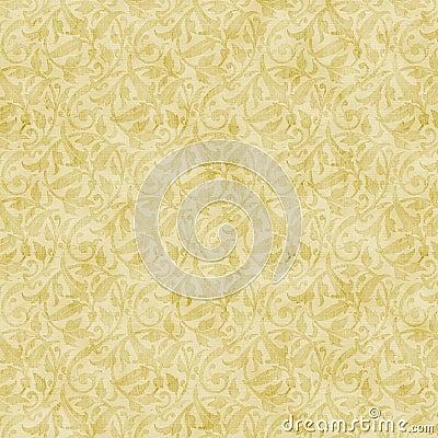 Digital erstellter hintergrund in der beige und gold in einem barocken