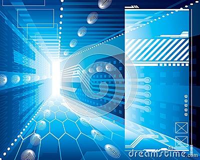 Hintergrund der Technologie-3D
