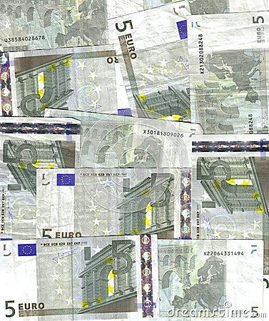 Hintergrund des Euros 5
