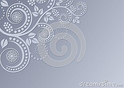 Hintergrund mit Blumendekoration