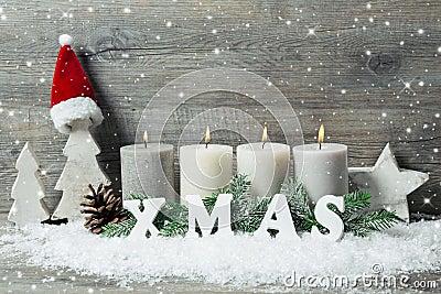 hintergrund mit kerzen und schneeflocken f r weihnachten stockfoto bild 46714040. Black Bedroom Furniture Sets. Home Design Ideas