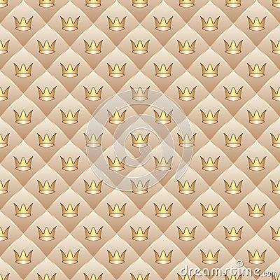 Hintergrund mit Kronen