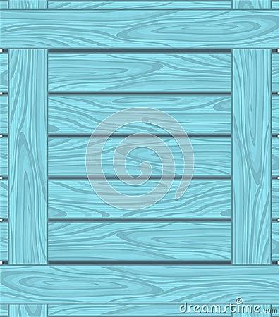 Hintergrund von blauen Brettern mit hölzernem Korn