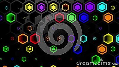 Hintergrund von Hexagons stock video footage