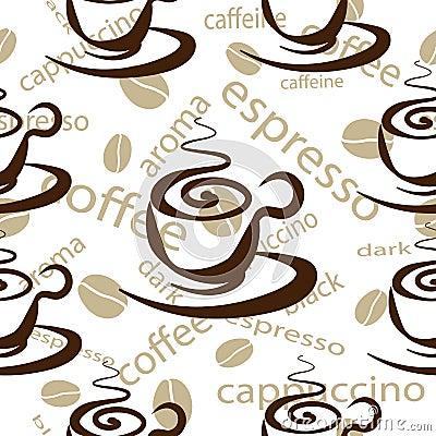 hintergrund von kaffeetassen nahtloser vektor vektor abbildung bild 54397503. Black Bedroom Furniture Sets. Home Design Ideas